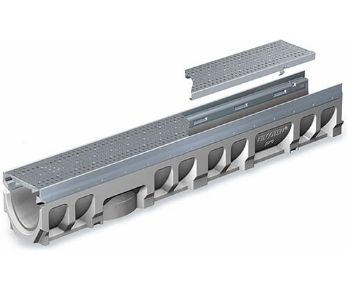 trench drains with light to extra heavy duty edge rails